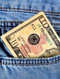 Soldi nella tasca Immagine Stock Libera da Diritti