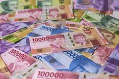 Soldi nuovi della rupia dell'Indonesia Fotografia Stock