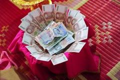 Soldi o prezzo di sposa tailandese di nozze Fotografie Stock Libere da Diritti
