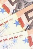 Soldi - particolare delle 50 un euro note Immagini Stock Libere da Diritti