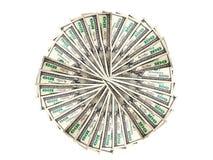 Soldi per formare un cerchio Immagini Stock