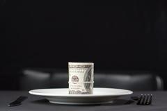 Soldi per il pranzo immagine stock libera da diritti