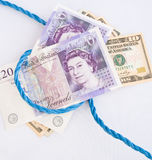 Soldi per la vecchia corda: Di sterlina. Fotografia Stock Libera da Diritti