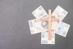 Soldi polacchi della chiesa immagini stock libere da diritti