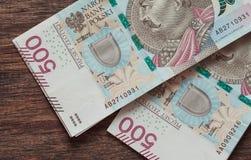 Soldi polacchi il più alta denominazione immagine stock