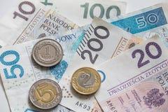 Soldi polacchi/zloty fotografie stock