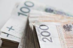 Soldi polacchi/zloty fotografia stock libera da diritti
