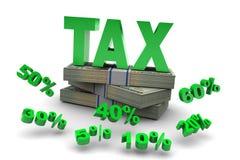 Soldi provenienti dalle imposte di percentuali Fotografie Stock Libere da Diritti