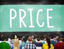 Soldi Rate Value Commerce Concept di spesa di costo di prezzi Fotografia Stock