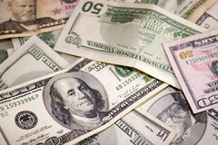 Soldi sparsi dei contanti Immagini Stock Libere da Diritti