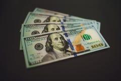Soldi una banconota di $100 dollari Fotografie Stock Libere da Diritti