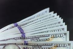 Soldi - USD Pila del fan Fotografia Stock