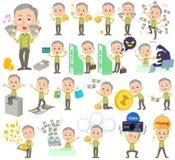 Soldi verdi del nonno della maglia royalty illustrazione gratis