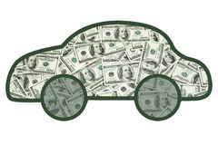 Soldi in vostra automobile immagine stock libera da diritti