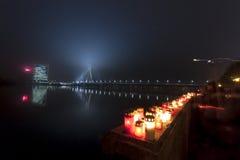 Soldier's Memorial Day i Riga Arkivbilder