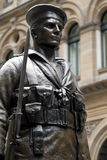 Soldier. Metal Soldier Statue, War Memorial Shrine In Sydney Australia royalty free stock photography