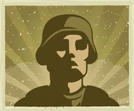 Soldier. A war themed soldier illustration Royalty Free Stock Image