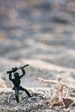 Soldier. Toy soldier in ground war Stock Photos