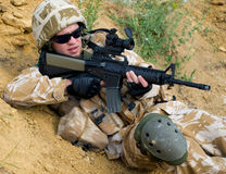 Soldier in action royalty free stock photos