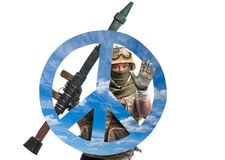 Soldier against the war Royalty Free Stock Photos