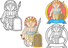 Soldier of ancient Egypt set of images Royalty Free Stock Photos