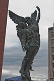 Soldier and Angel Statue Vancouver Royalty Free Stock Images