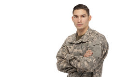 Soldier with arms crossed Royalty Free Stock Images
