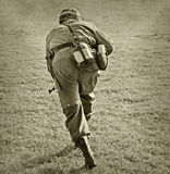 Soldier attacking Royalty Free Stock Photography