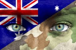 Soldier from Australia stock photography