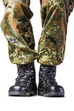 Soldier. Boots in different looks in german uniform Stock Image