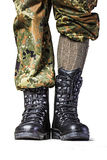 Soldier. Boots in different looks in german uniform Stock Images