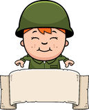 Soldier Boy Banner Royalty Free Stock Image