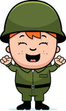 Soldier Boy Excited Royalty Free Stock Photos