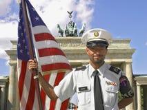 Soldier at Brandenburg Royalty Free Stock Photo