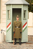 A soldier at Budapest, Hungary Stock Photography