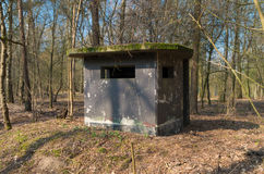 Soldier bunker. Old concrete bunker on a former military airbase Stock Image