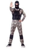 Soldier in camouflage Royalty Free Stock Photos