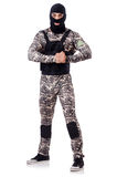 Soldier in camouflage Stock Image
