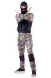 Soldier in camouflage Stock Photography