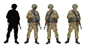 Soldier_camouflage_PART04 Images stock
