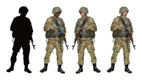 Soldier_camouflage_PART04 Imagens de Stock