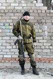 Soldier in camouflage uniform Royalty Free Stock Images