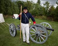 Soldier with a cannon Royalty Free Stock Photography