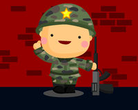 Soldier. A soldier that carry a gun Stock Image