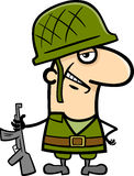Soldier cartoon illustration Stock Photography