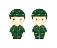 Soldier cartoon  Royalty Free Stock Photos
