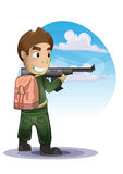 Soldier cartoon with separated layers Stock Image