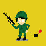 Soldier  cartoon Royalty Free Stock Photos