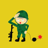 Soldier  cartoon Stock Photo