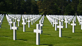 Soldier Cemetery In Normandy Stock Photography